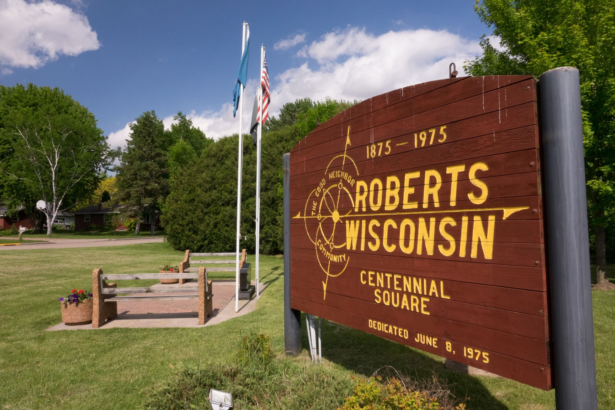 Roberts Centennial Square Sign