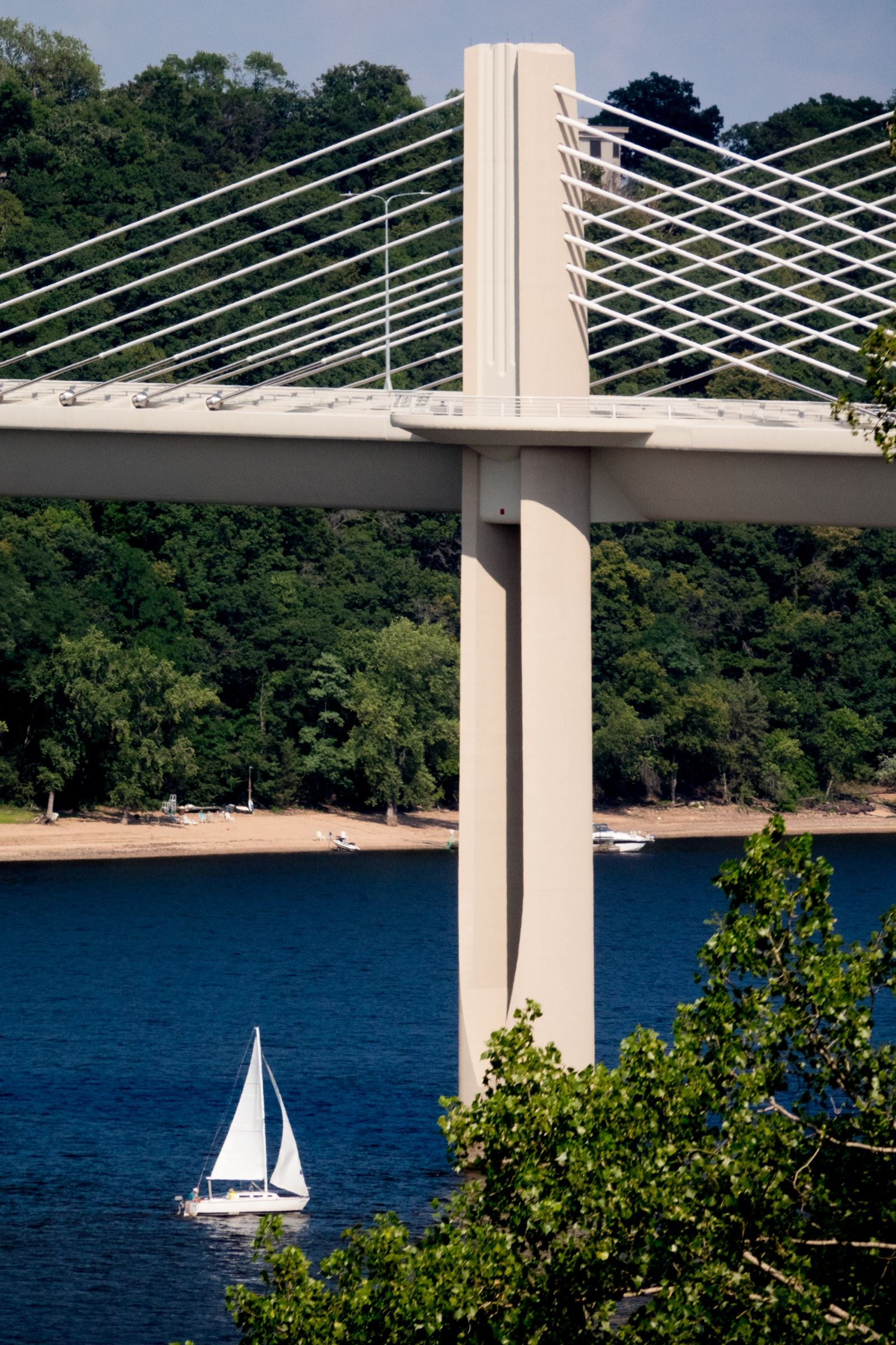 St Croix River Crossing with Sailboat