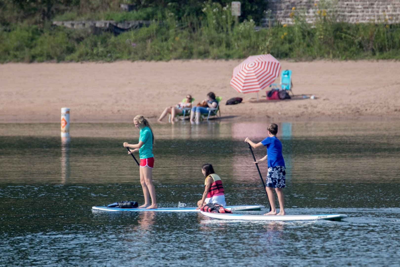 Kids Paddleboarding at County Park