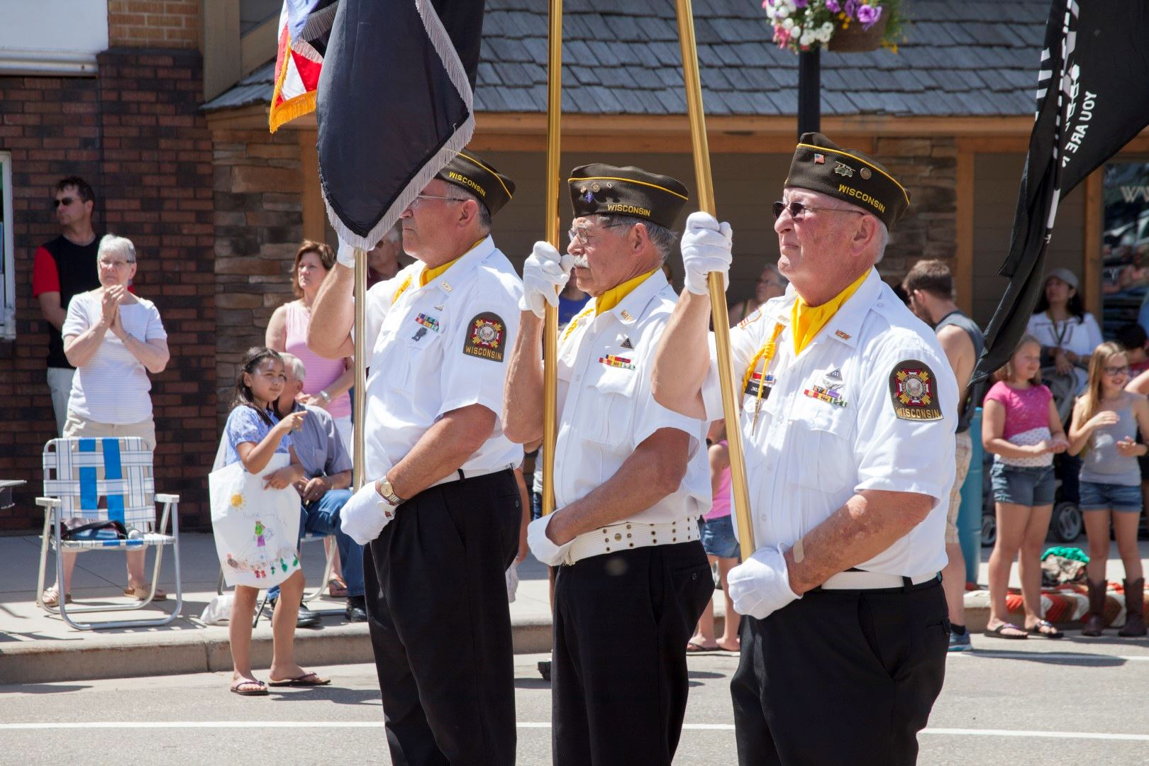 Three Legion Members in Parade