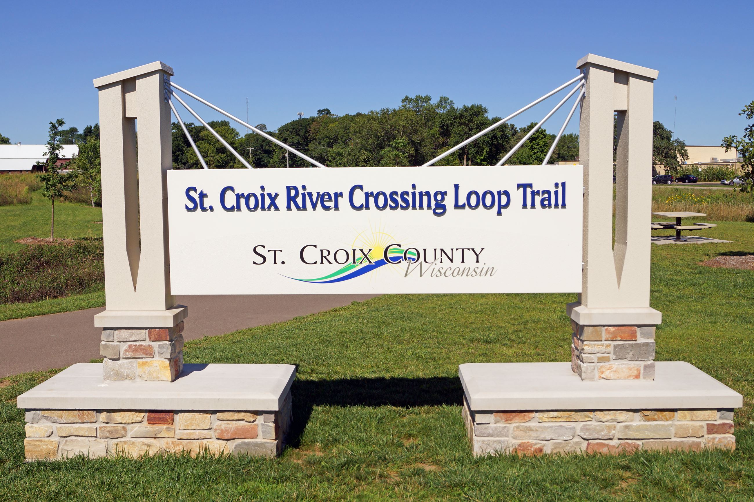 St Croix Crossing Loop Trail Sign